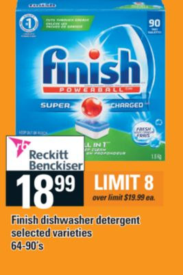 Finish Dishwasher Detergent - 64-90's