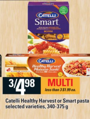 Catelli Healthy Harvest Or Smart Pasta - 340-375 g
