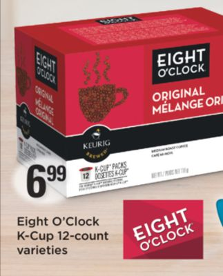 Eight O'clock K-cup 12-count Varieties