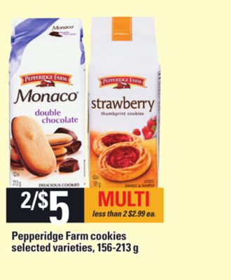 Pepperidge Farm Cookies - 156-213 g