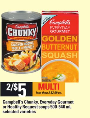 Campbell's Chunky - Everyday Gourmet Or Healthy Request Soups - 500-540 mL
