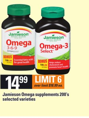 Jamieson Omega Supplements - 200's