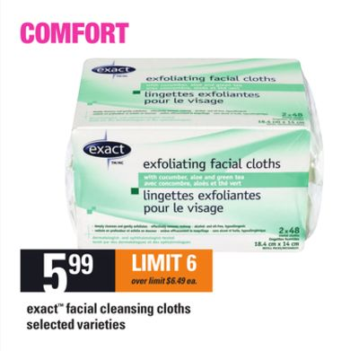 Exact Facial Cleansing Cloths