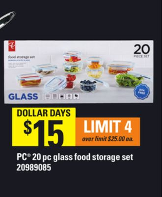PC 20 PC Glass Food Storage Set
