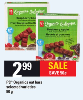PC Organics Oat Bars - 90 G