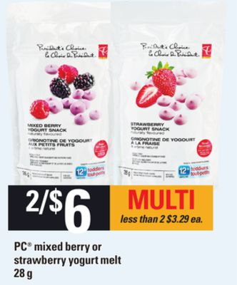 PC Mixed Berry Or Strawberry Yogurt Melt - 28 g