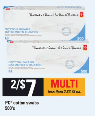 PC Cotton Swabs - 500's
