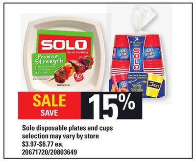 Solo Disposable Plates And Cups