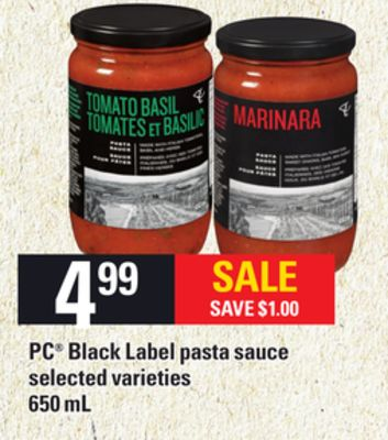 PC Black Label Pasta Sauce - 650 mL