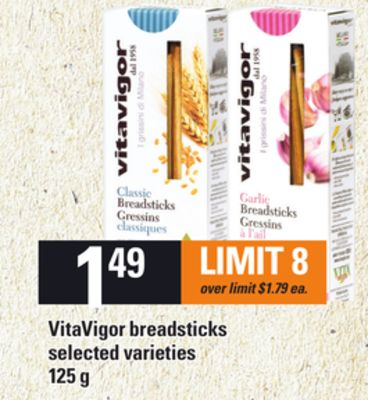 Vitavigor Breadsticks - 125 g