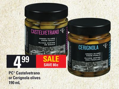 PC Castelvetrano Or Cerignola Olives - 190 mL