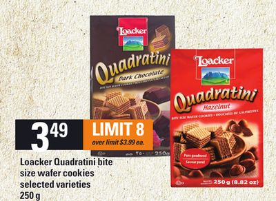 Loacker Quadratini Bite Size Wafer Cookies - 250 g