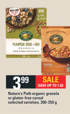 Nature's Path Organic Granola Or Gluten-free Cereal - 300-350 g