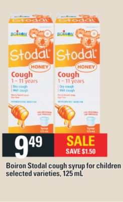 Boiron Stodal Cough Syrup For Children - 125 mL