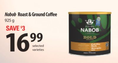 Nabob Roast & Ground Coffee - 925 g