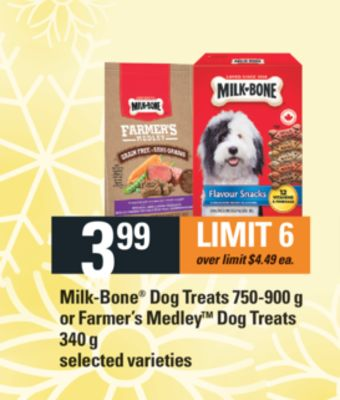 Milk-bone Dog Treats - 750-900 g Or Farmer's Medley Dog Treats - 340 G