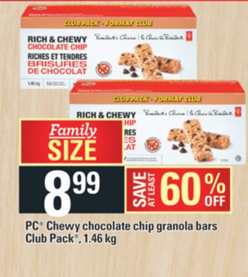 PC Chewy Chocolate Chip Granola Bars Club Pack - 1.46 Kg