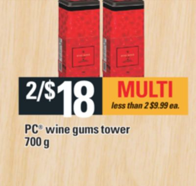 PC Wine Gums Tower - 700 g