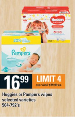 Huggies Or Pampers Wipes - 504-792's