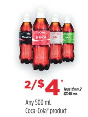 Any 500 Ml Coca-cola Product