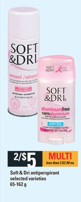 Soft & Dri Antiperspirant - 65-162 g