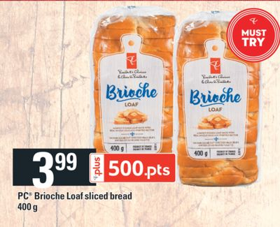 PC Brioche Loaf Sliced Bread - 400 g