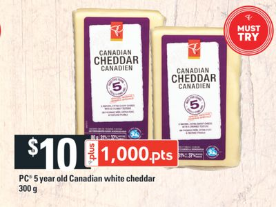 PC 5 Year Old Canadian White Cheddar - 300 G