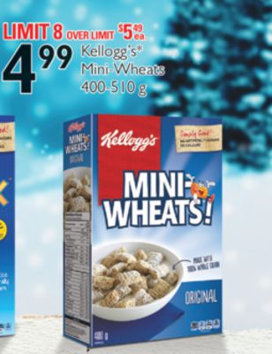 Kellogg's Mini-wheats - 400-510 g