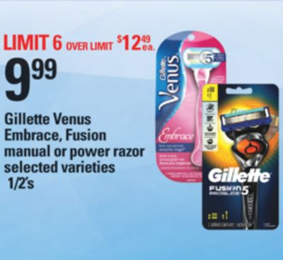 Gillette Venus Embrace - Fusion Manual Or Power Razor - 1/2's