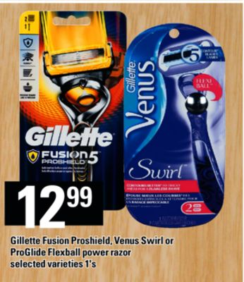 Gillette Fusion Proshield - Venus Swirl Or Proglide Flexball Power Razor - 1's