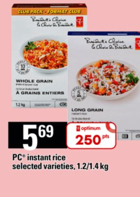 PC Instant Rice - 1.2/1.4 Kg