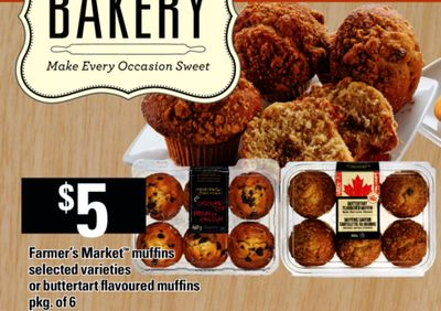 Farmer's Market Muffins Or Buttertart Flavoured Muffins - Pkg of 6