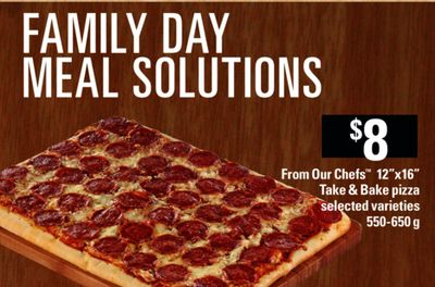 From Our Chefs 12''x16in Take & Bake Pizza - 550-650 g