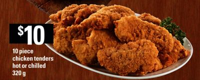 10 Piece Chicken Tenders Hot Or Chilled - 320 g