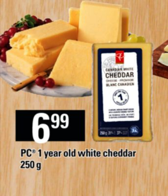 PC 1 Year Old White Cheddar - 250 g