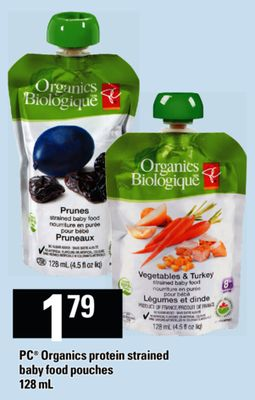 PC Organics Protein Strained Baby Food Pouches - 128 mL