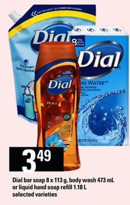 Dial Bar Soap - 8 X 113 G - Body Wash - 473 Ml Or Liquid Hand Soap Refill - 1.18 L