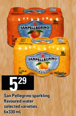 San Pellegrino Sparkling Flavoured Water - 6x330 mL