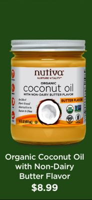 Organic Coconut Oil With Non-dairy Butter Flavor