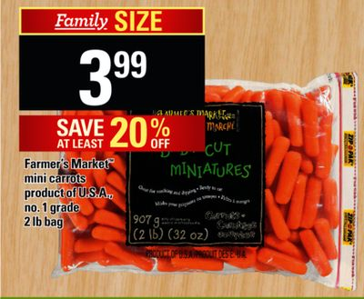 Farmer's Market Mini Carrots - 2 Lb Bag