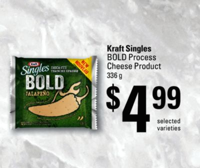 Kraft Singles Boldprocess Cheese Product - 336 g