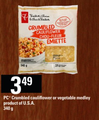 PC Crumbled Cauliflower Or Vegetable Medley - 340 g