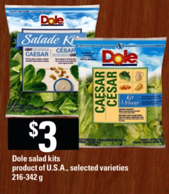 Dole Salad Kits - 216-342 g