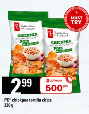 PC Chickpea Tortilla Chips - 320 g