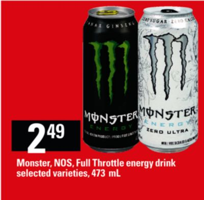 Monster - Nos - Full Throttle Energy Drink - 473 mL