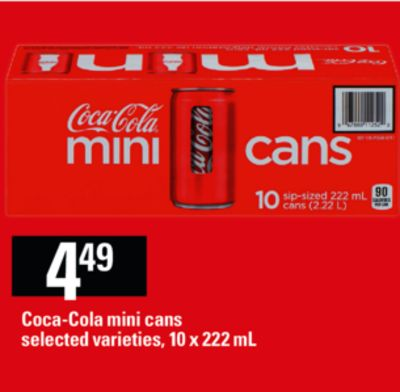 Coca-cola Mini Cans - 10 X 222 mL