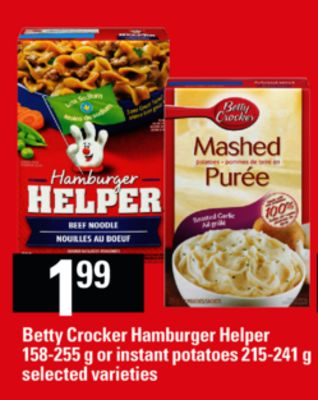 Betty Crocker Hamburger Helper on sale | Salewhale.ca