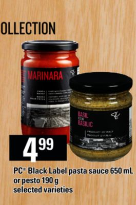 PC Black Label Pasta Sauce 650 Ml Or Pesto 190 G