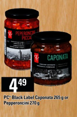 PC Black Label Caponata - 265 G Or Pepperoncini - 270 G