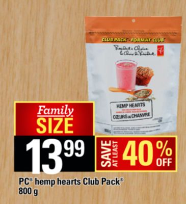 PC Hemp Hearts Club Pack - 800 g